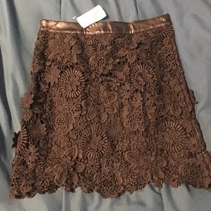 Forever 21 Black Lace Floral Skirt size S